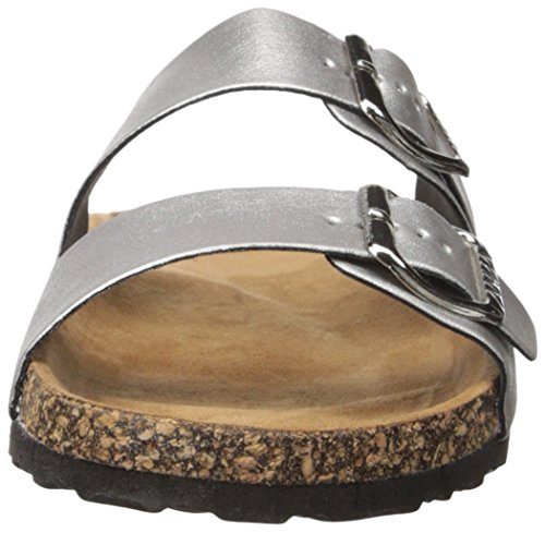 Scarpe Anna Donna Argento-100 Sandalo Nastro Argento