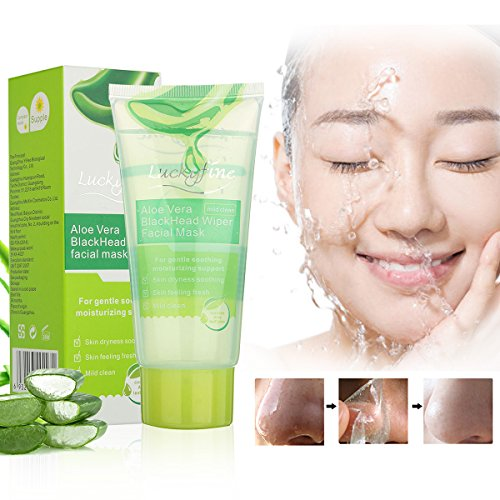 LuckyFine 100g Aloe Vera Black Head Cleaner Deep Clean Purifying Peel Off (Aloe Vera Face Mask)