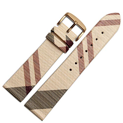 Choco&Man US Burberry Calfskin Leather Watch Band with Tool ReplaceWoment for Women's Burberry ()