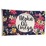 chi omega flag - Alpha Chi Omega Floral Pattern Letter Sorority Flag Greek Letter Use as A Banner Large 3 x 5 Feet Officially Licensed Flags and Decor in Beautiful Vibrant Colors by Greek Life Stuff