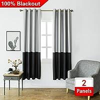 Jinlei 100% Blackout Curtains Room Darkening Curtains...