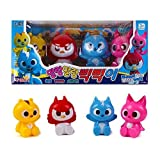 New Korean animated tv Series MINI FORCE Soft Toy 4Pcs - Animal Superhero Action Animation Comedy by Nice Toy