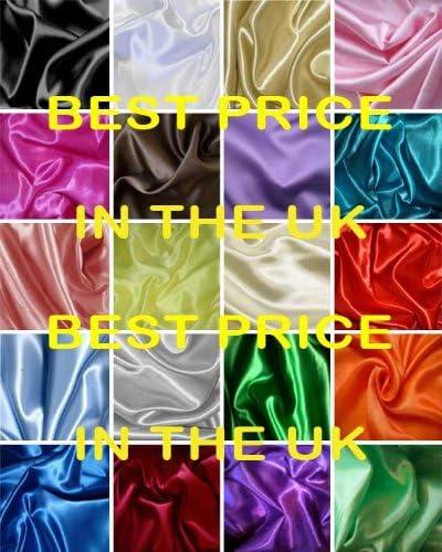 Supgod Satin de soie tissu de couture vendu au m/ètre Bianco