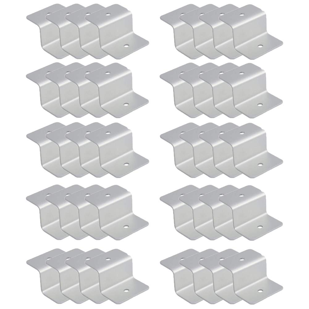 ECO LLC 10 Sets (40pcs) Solar Panel Z Mounting Bracket Kits Brackets W/Stainless Bolt by ECO LLC