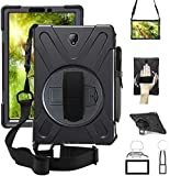 ZenRich Galaxy Tab S4 2018 Case, Tab S4 10.5 Case with S Pen Holder Rotatable Stand Hand strap and Shoulder Belt…