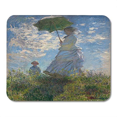 - Emvency Mouse Pads Woman Parasol Madame Monet and Her Son by Claude 1875 French Impressionist Painting Oil on Canvas Mousepad 9.5