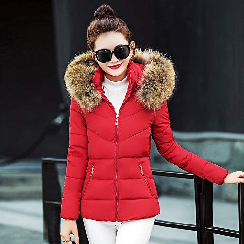 Chaud Gilet Solide Poches Mode Manches Femme Vest Rouge Courte Manteau Parka Hiver Hooded Longues Trench OSYARD Doudoune pAwYFqFR