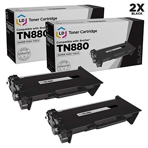 LD Compatible Toner Cartridge Replacement for Brother TN880 Super High Yield (Black, 2-Pack)