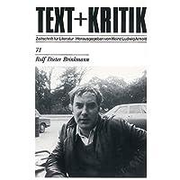 Rolf Dieter Brinkmann (TEXT+KRITIK 71)