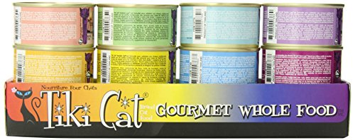 Tiki Cat Gourmet Whole Food 12-Pack Queen Emma Variety Pet Food