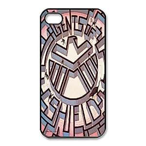 Generic Design Back Case Cover iPhone 4,4S Cell Phone Case Black S.H.I.E.L.D Bduan Plastic Cases