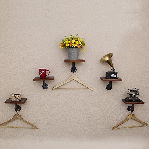 Creation Core 1pcs Diameter 1 Vintage Pipe Shelf Bracket for Your DIY Wall Shelf Support Hardware Only 5x9.8