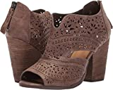 Not Rated Womens Santana Laser Cut Bootie (Light Taupe, 8)
