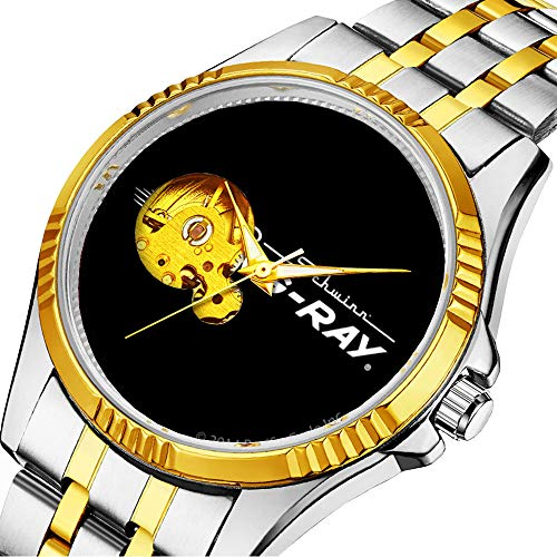Casual Men Automatic Mechanical Watch Luxury Brand Casual Sports Watches for Male Personality dial & Clear Window 496.Schwinn Sting-Ray Logo - Black -  GIRLSIGHT, jxsb361