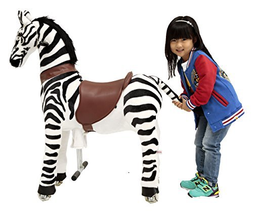 - Mechanical Ride on Zebra Simulated Horse Riding on Toy Ride-on Toys Without Battery or Power: More Comfortable Riding with Gallop Motion for Kids 5-12 Years