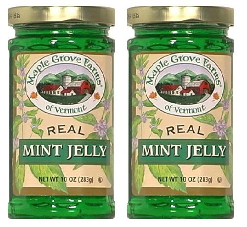 Maple Grove Farms of Vermont Real Mint Jelly (10 oz Jars) 2 Pack by Maple Grove Farms Of Vermont
