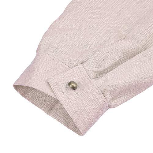 POTTOA Chemise Longue Rose Manches Imprimes Grande Mode Manche en Shirt Femme Loose Swag Taille Femmes Chemisier Col Femme Chemise Tee Femme Longues Sweatshirt Solide V pour PP41rq
