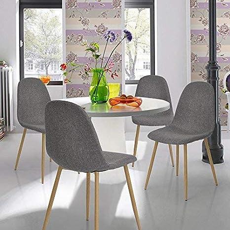 innovareds tela sillas de comedor juego de 4 moderno salón ...