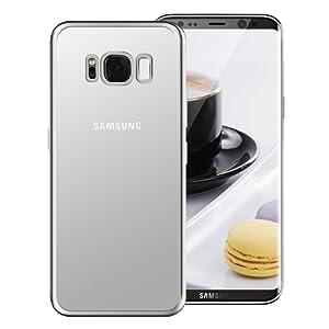 Coque Samsung Galaxy S8 , Tronisky [Absorption de Choc] Galaxy S8 Housse Résistante antichoc Premium TPU Silicone Bumper Coque pour Samsung Galaxy S8 - Argent