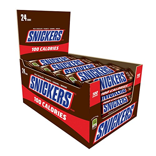 snickers-100-calories-chocolate-candy-bar-076-ounce-bar-24-count-box