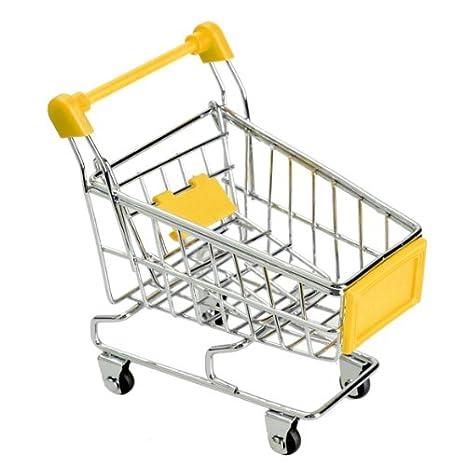 Domybest Multifuncional Mini Carrito de Compra de Supermercado (Amarillo)