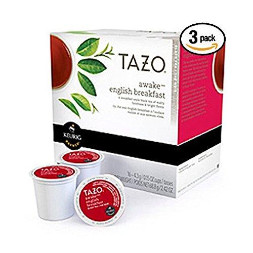 Tazo Awake English Breakfast Tea Keurig K-cups, 16 Count [Pack of 3]