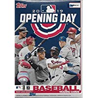2019 Topps Opening Day Baseball Series Unopened Blaster Box with 11 Packs of 7 Cards Possible Autographs and Game Used Relics Cards