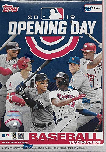 2019 Topps Opening Day Baseball Series Unopened Blaster Box with 11 Packs of 7 Cards Possible Autographs and Game Used Relics Cards from Complete Mint Set