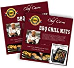 Bundle of 2 Sets Pro BBQ Grill Mat by Chef Caron Each Set with Two Heavy Duty Grilling Sheets Nonstick Ultra slick Extra Thick 25mm