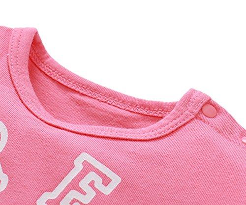 12m Vestiti Bambino Tuta Abiti L'estate Pink Pink Leggiadramente Bambina 9 Onesies xrqrX8R