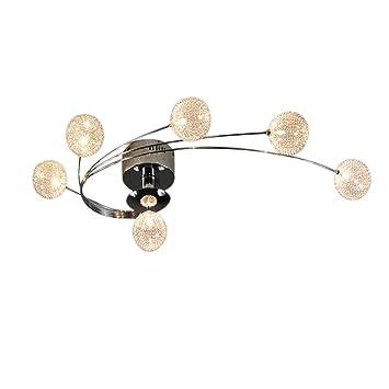 AIKE LED G4×6 Flame Efecto Espiral Moderno Lámpara De Techo ...