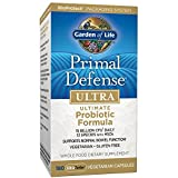Garden of Life Whole Food Probiotic Supplement - Primal Defense ULTRA Ultimate Probiotic Dietary Supplement for Digestive and Gut Health, 180 Vegetarian Capsules