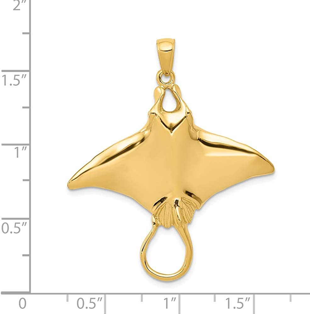 Solid 925 Sterling Silver Starfish Pendant 15mm x 11mm