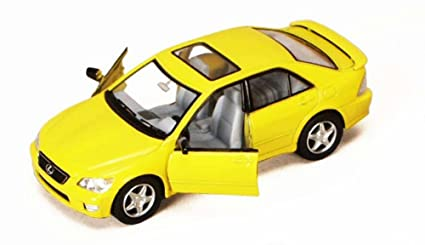 Kinsmart Lexus IS300, Yellow 5046D - 1/36 Scale Diecast Model Toy Car, but  NO Box