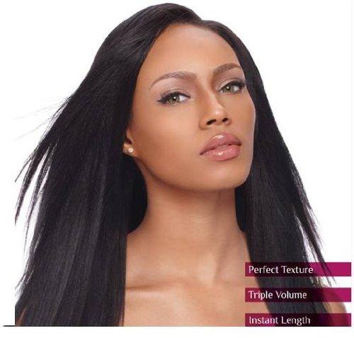 "Sensationnel 100% Human Hair - YAKI CLIP-IN WEAVES 10"" (MEDIUM, 4 - MED BROWN)"