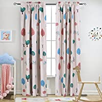 Melodieux Cartoon Trees Room Darkening Rod Pocket...
