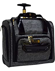 Nicole Miller Jardin Wheeled Under Seat Carry On (Black)