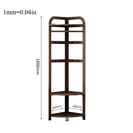 Amazon.com: WYQSZ Solid Wood Coat Rack, Floor Bedroom Foyer ...
