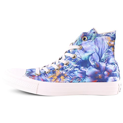 Chuck femmes Taylor Converse Hi sneaker high Graphic Canvas Bleu toile TUnnWOBF