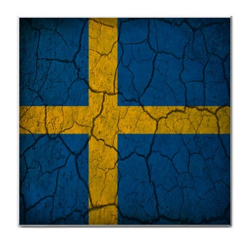 Sweden Flag Crackled Design Tile Trivet