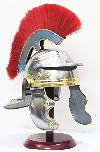 Medieval Roman Helmet Centurion Gallic Helmet Spartan Greek Knight Armour Helmet (Steel Helmet Roman)