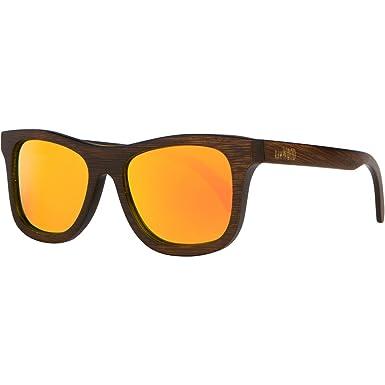 RawWood Polarisierte Sonnenbrillen aus Bambusholz Holz -Lakers Braun / Orange RB09IoUshI