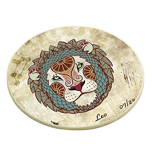 Creative Set of 6 Round Cup Coaster Placemat Drink Holder Cup Tray, G
