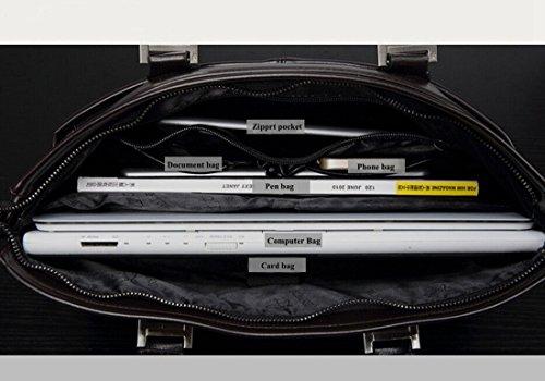 """TGLOE microfibra piel bolsas portátiles Bolso mochila empresa hombres Messager-Fit para ordenador portátil de 14 """" azul"""