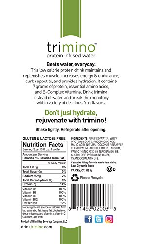 trimino-protein-infused-water-Coconut-Pineapple-16-Ounce-Pack-of-12