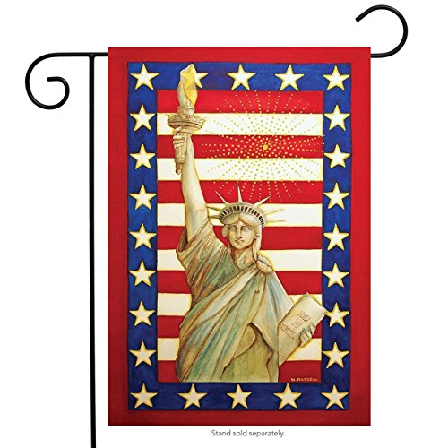BoutiqueHome Lady Liberty Patriotic Garden Flag 4th of July Statue of Liberty (Lady Flag Liberty)