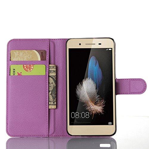 Funda Huawei Enjoy 5S/Huawei G8 mini/Huawei GR3,Caja del teléfono del cuero,Protector de Pantalla de Slim Case Estilo Billetera con Ranuras para Tarjetas, Soporte Plegable, Cierre Magnético(JFC6-11) I
