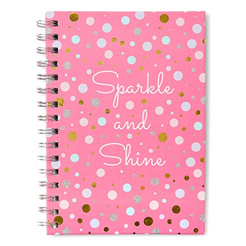 (Small Hardcover Journal Notebook Notepad: Tri-Coastal Design Lined Spiral Notebooks/Journals with Cute Cover Design & Phrase - Personal Diary for Writing Notes in and Journaling (Sparkle and Shine))
