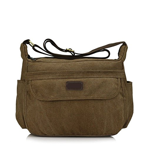 Männer Vintage-Leinwand Messenger Ipad Schulter Tote Sling Geschäftsleben Tasche,B-31cm*12cm*23cm