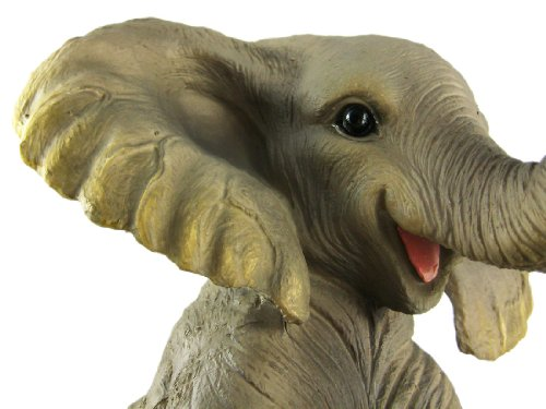 amazon com cute african elephant porch garden statue w lantern